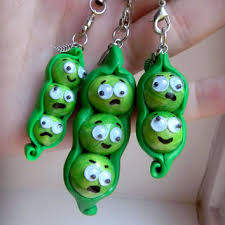 2 peas in a pod keychain best polymer clay keychain products on wanelo