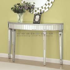 coaster half oval mirrored console table 950183