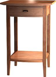 tall side table with drawers side table by urban forest furniture hand made coffee table cherry