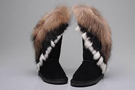 ugg australia sale damen ugg 8688 fox fur boots black ugg xz10160174