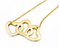 heart necklace tiffany images Tiffany co 18k gold triple heart pendant 17 quot necklace tradesy jpg