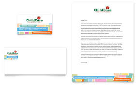 preschool kids u0026 day care brochure template design