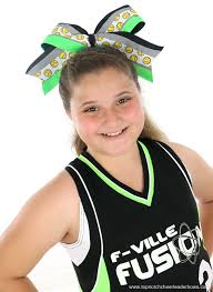 big bows for hair softball ribbon neon green big spirit team hair bow