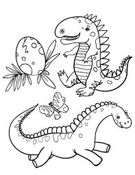 printable baby dinosaur coloring free pdf download http