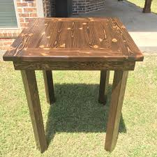 rustic pub table diy rustic pub table pinterest high top