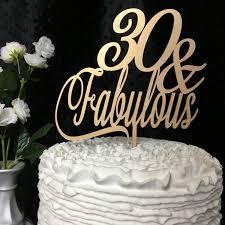 30 cake topper 30th cake topper 30 fabulous cake topper birthday cake topper