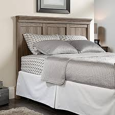 Bedroom Furniture By Lane Sauder Barrister Lane Salt Oak Queen Headboard 419249 The Home Depot