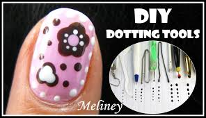 craft flower nail art tutorial diy dotting tool candy design