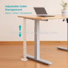 sous le bureau sous le bureau hauteur réglable câble gestion avec guide fil pour