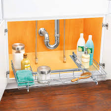 kitchen sink cabinet caddy best and most useful the sink organizers popsugar home