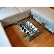 Wohnzimmertisch Dekorieren Technik Lifestyle V8 Tisch Motorblock Dekoration