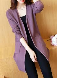 purple cardigan sweater s cut terry cloth textured cardigan sweater with
