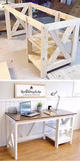 Office Desk Woodworking Plans Farmhouse X Office Desk Office Desks Woodworking Plans And