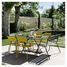 chaises fermob salon de jardin fermob cargo table l128 l128 cm 6 chaises 1