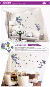 Cherry Blossom Home Decor Korean Style Livingroom Decorative Purple Cherry Blossom Butterfly
