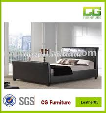 Black Leather Sleigh Bed Hotel Bed Base Hotel Bed Base Suppliers And Manufacturers At