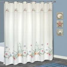 Seashell Shower Curtains Seashell Fabric Shower Curtain Foter