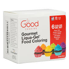 amazon com food coloring liqua gel 6 color rainbow kit in 75