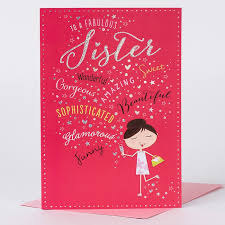 birthday card sister pamper yourself only 99p