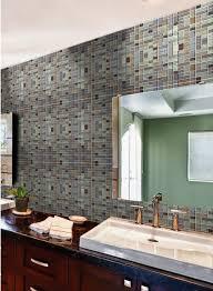 Crystal Bathroom Mirror Metal Glass Tile Bathroom Mirror Wall Stickers Metallic Tiles