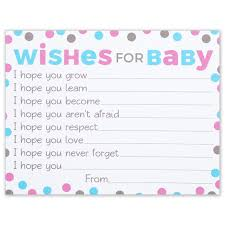 Baby Shower Thoughts For A Card Amazon Com Wishes For Baby Cards Pink And Blue Polka Dots Boy