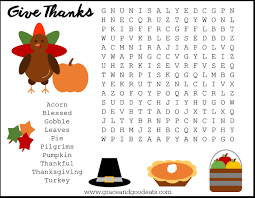 thanksgiving word search grace and eats