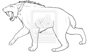 saber tooth coloring pages