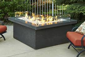 Gas Firepit Tables Pointe L Shape Pit Table Midnight Mist Top