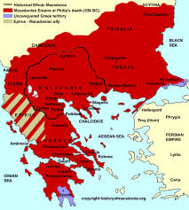 Sparta Greece Map by Map Of King Phillips Empire Alexander The Great Becomes King