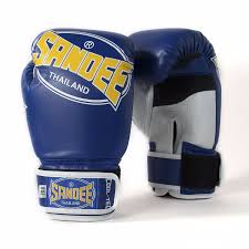sandee kids cool tech boxing gloves blue gold