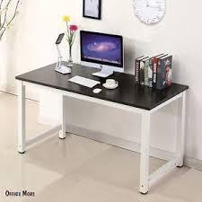 Office Furniture Computer Desk Wood Black Computer Desk Pc Laptop Table Workstation Study Home