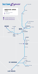 road map sle route map salt lake express
