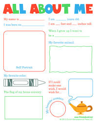 all about me worksheet pack all about me poster all about me