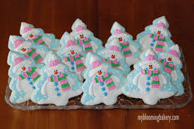 snowman christmas tree sugar cookie 12 rolled decorated
