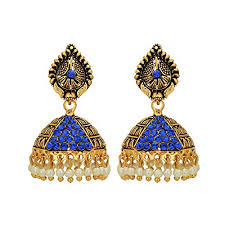 fancy jhumka earrings aarvi collections inspired pearl polki stylish fancy