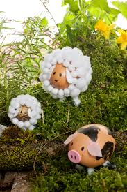 Black Faced Sheep Home Decor Easter Decoration With Animals Out Of Egg Shells Look What I