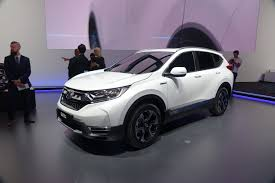 crossover honda honda cr v hybrid displayed in frankfurt us likely next but when