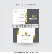 golden gray business card print template stock vector 603837068