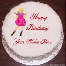 doll birthday cake image