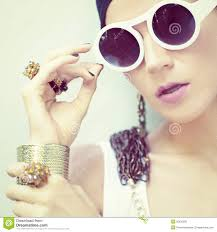 girl accessories stylish girl in jewelry and accessories royalty free stock image