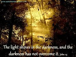 light in the darkness verse the light shines