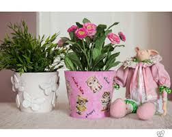personalized flower pot owl flower pot etsy