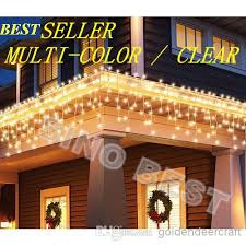 best deal on led icicle lights outdoor 110 led icicle lights warm white christmas holiday lighting