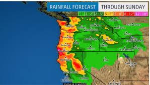 Washington Coast Map Mega Storm Packing 150 Mph Winds And 50 Foot Waves Set To Pummel