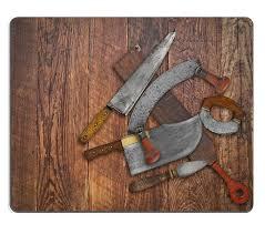 Vintage Kitchen Knives Msd Mousepad Image 30203137 Vintage Kitchen Knives And Sharpening