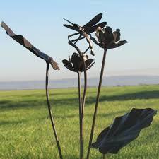 dragonfly metal garden statues lawn ornaments ebay