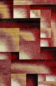 burgundy square design contemporary area rugs 2x4 5x8 8x11