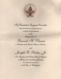 Ceremony Cards F Invitations To The First Inauguration Of Barack Obama Wikipedia