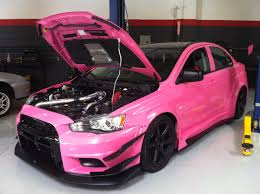 mitsubishi pink pink evo x appeared at your dream garage your dream garage