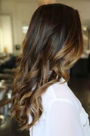 does hair look like ombre when highlights growing out brunette balyage rich brunette with caramel highlights brown